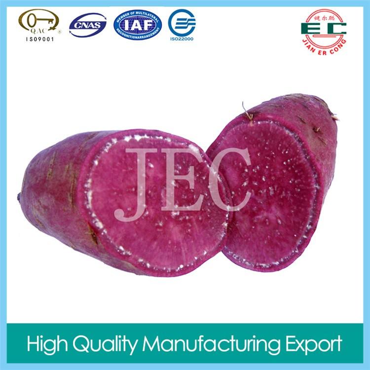 organic vegetable  fresh purple sweet potato